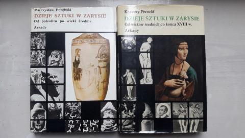 Historia sztuki w zarysie 2 tomy Porębski