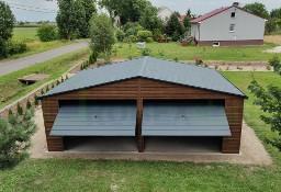 Garaż drewnopodobny NA WYMIAR orzech złoty dąb multiglos 3x5 4x5 3x6 4x6 6x5 6x6