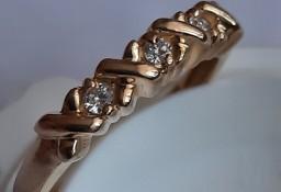 Pierścionek Damski Złoto 585 Diamenty (Brylant