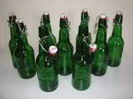 Butelki z pałąkiem po piwie Grolsch czyste, bez etykiet z porcelanowym korkiem