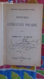 Historia literatury polskiej (wyd.1906r)