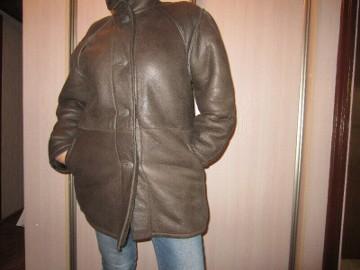 Kurtka - kożuch damski w kolorze brązowym