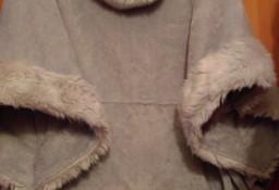 Firmowe, futrzane PONCZO z futerkiem, narzutka, bluza, futerko/ONE SIZE