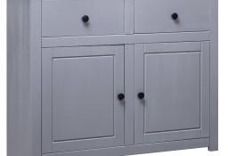 vidaXL Szafka, szara, 93x40x80 cm, lite drewno sosnowe, seria Panama282698