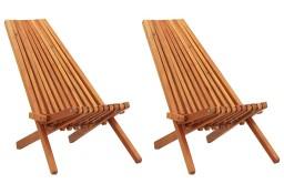 vidaXL Składane krzesła ogrodowe, 2 szt., lite drewno akacjowe 45975