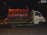 przewóz lawetą maszyn rolniczych samochodów maszyn budowl Siennica