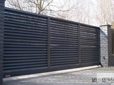 Brama jezdna PS 004 150x400cm żaluzja oc+kolor-1