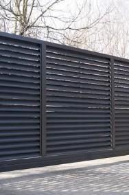 Brama jezdna PS 004 150x400cm żaluzja oc+kolor-2