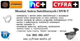 Montaż ANTEN SMOCHOWICE, KOBYLNIKI, Rogierówko TEL: 500-450-247