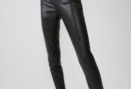 (40/L) ZARA/ Skórzane spodnie, legginsy, rurki z Madrytu/ NOWE z metką