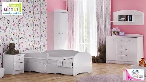 Zestaw BIANCO z łóżkiem - WYSYŁKA GRATIS