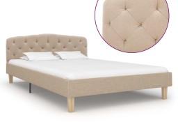 vidaXL Rama łóżka, tkanina, beżowa, 120 x 200 cm 284932