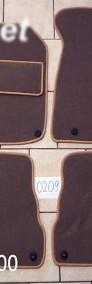 AUDI A6 C5 sedan 1997 - 2004 najwyższej jakości dywaniki samochodowe z grubego weluru z gumą od spodu, dedykowane Audi A6-4