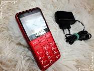 Panasonic KX-TU150 Telefon DualSim funkcja SOS dla seniora czerwony