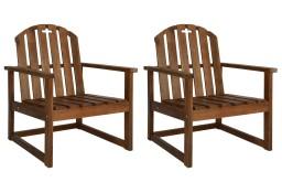 vidaXL Krzesła ogrodowe, 2 szt, lite drewno akacjowe 44033
