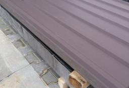 Tania blacha T-18 na dach w II gat. matowa w kolorze brązowym.