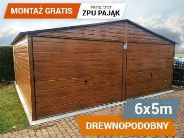 Garaż blaszany drewnopodobny WYSOKA JAKOŚĆ dwa stanowiska 6x5