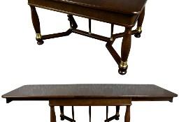 Stylowy rozkładany stół dębowy na 10 osób dąb antyk stary