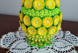 Jajka wielkanocne ręcznie robione, quilling eleganckie dekoracje