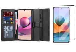 Etui Wallet 2 + Szkło Płaskie do Xiaomi Redmi Note 10 / 10S