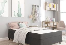 vidaXL Rama łóżka, szara, tapicerowana tkaniną, 120 x 200 cm287463