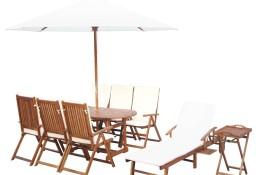 vidaXL 10-cz. zestaw mebli ogrodowych, poduszki, lite drewno akacjowe 43549