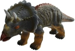 Duży Dinozaur Ryczy Triceratops Figurka Gumowa z Dźwiękiem