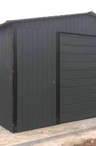 Garaż blaszany 4x6 dwuspadowy blacha w kolorze -2