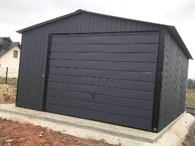 Garaż blaszany 4x6 dwuspadowy blacha w kolorze -1