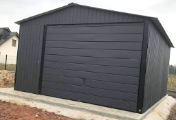 Garaż blaszany 4x6 dwuspadowy blacha w kolorze