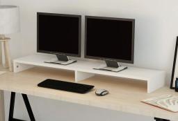 vidaXL Podstawka pod monitor z płyty wiórowej 118 x 23,5 x 9 cm, biała243663