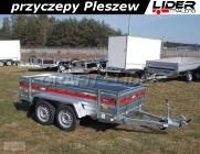 TM-242 przyczepa + wzmocnienia burt 263x125x46cm, Prakti 2612/2, lekka, towarowa, wysokie burty, DMC 750kg