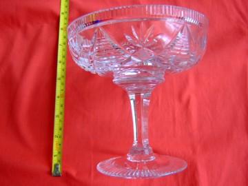 Misa kryształ patera kryształowa wysoka na nodze PRL