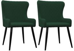 vidaXL Krzesła do jadalni, 2 szt., zielone, aksamit282526