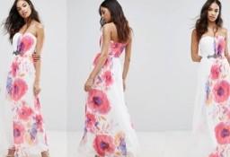 (38/M) Wytworna, długa sukienka wieczorowa z Londynu/ NOWA