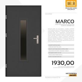 Drzwi wejściowe stalowe SETTO model MARCO PLUS