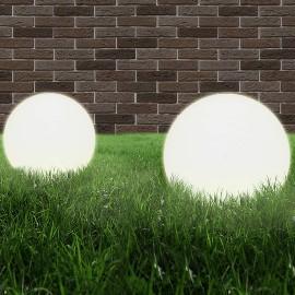 vidaXL Lampy zewnętrzne LED, 2 szt., kule 40 cm, PMMA 50657