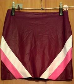 (36) Firmowa, skórzana, mini spódnica/spódniczka ołówkowa z Londynu/ NOWA z metką
