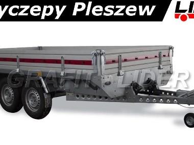 TM-086 przyczepa Transporter 3217/2C, 325x171x30cm, ciężarowa, towarowa, burty aluminiowe, DMC 2700kg-1