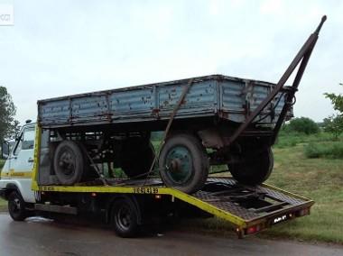 Transport lawetą maszyn rolniczych przyczep rozrzutników i innych-1