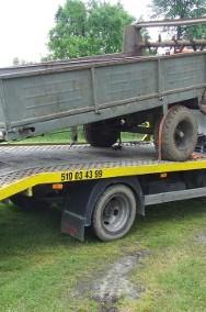 Transport lawetą maszyn rolniczych przyczep rozrzutników i innych-2