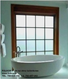 Folie na okna łazienkowe, co na okno w łazience? Folkos folie 100% dyskrecji ,nie zaciemnia pomieszczeń