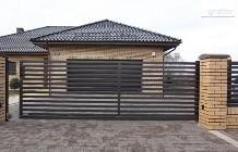 Brama przesuwna 4m palisada