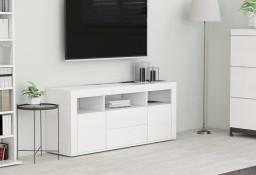 vidaXL Szafka pod TV, biała, 120x30x50 cm, płyta wiórowa 801814