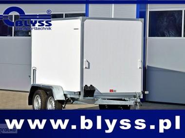 Nowa PRZYCZEPA KONTENER FURGON 750 KG 250x130x150 Blyss-1