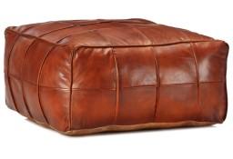 vidaXL Puf, brąz tan, 60x60x30 cm, prawdziwa kozia skóra248132