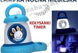 Przenośna Lampka Nocna Latarka Niebieska Zasilacz Ładowarka
