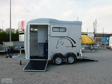 Przyczepa do przewozu koni Przyczepa Aluminiowa dwukonna Przyczepy marki Debon Cheval Liberte Przyczepa model Gold Touring Przyczepa z ...
