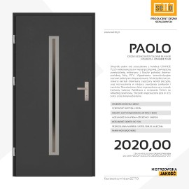 Drzwi wejściowe stalowe SETTO model PAOLO PLUS