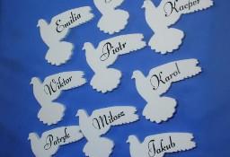 Gołąbki Z Imieniem - Dekoracja Na Pierwszą Komunię, Eucharystyczne, ozdoby styropianowe, komunijne
